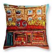 Fifties Fruitstore Throw Pillow