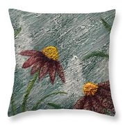 Flowers In The Breeze Throw Pillow