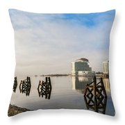 Fog In The Bay 2 Throw Pillow