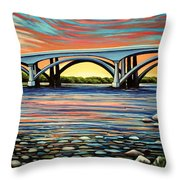 Folsom Bridge Throw Pillow