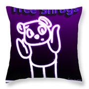 Free Shrugs  Throw Pillow