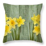 Fresh Spring Daffodils Throw Pillow