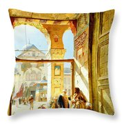 Gate Of The Great Mosque. Damascus Throw Pillow