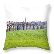 Gettysburg Confederate Infantry 0157c Throw Pillow