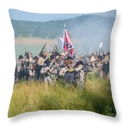 Gettysburg Confederate Infantry 9214c Throw Pillow