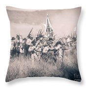 Gettysburg Confederate Infantry 9214s Throw Pillow