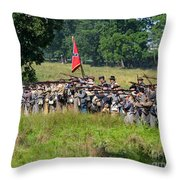 Gettysburg Confederate Infantry 9270c Throw Pillow