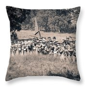 Gettysburg Confederate Infantry 9270s Throw Pillow