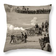 Gettysburg Union Artillery And Infantry 7439s Throw Pillow