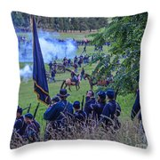 Gettysburg Union Artillery And Infantry 7459c Throw Pillow