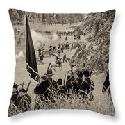 Gettysburg Union Artillery And Infantry 7459s Throw Pillow