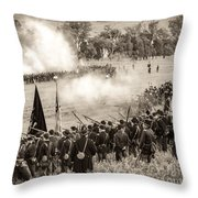 Gettysburg Union Artillery And Infantry 7496s Throw Pillow