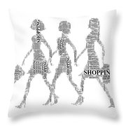 Go Shopping  Throw Pillow