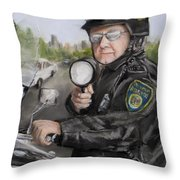 Gotcha Throw Pillow by Jack Skinner