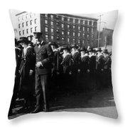 Group Women Females In Navy Circa 1918 Black Throw Pillow