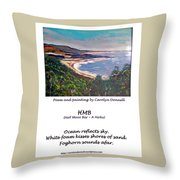 Half Moon Bay - A Haiku Throw Pillow