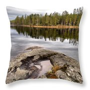 Haukkajarvi Landscape Throw Pillow