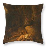 Hera Hides During The Battle Between The Gods And The Giants Throw Pillow