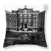 Hospital 1912 Black White 1910s Archive Brick Throw Pillow