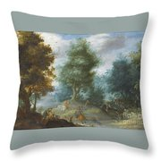 Hunting With Hounds Throw Pillow