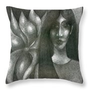 I And My Flower  Throw Pillow