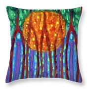 I Flow To Violet Throw Pillow
