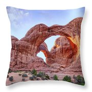 I Stand At Your Gate Throw Pillow