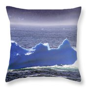 Iceberg Floating By Throw Pillow