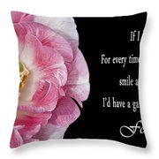 If I Had A Flower Throw Pillow