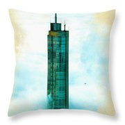 Illustration Of  Trump Tower Throw Pillow