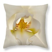 In The Heart Of The Orchid Throw Pillow