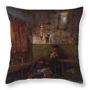 In The Synagogue Throw Pillow