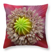 Inner Most Poppy Throw Pillow
