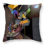 Interview-the Wisdom Of The Stairs Throw Pillow