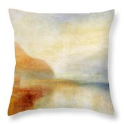 Inverary Pier - Loch Fyne - Morning Throw Pillow by Joseph Mallord William Turner