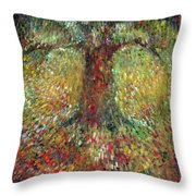 Invisible Tree Throw Pillow