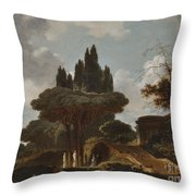 Italian Landscape With Stairs Throw Pillow