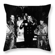 Jack Dempsey In Naval Uniform People Caveman Throw Pillow