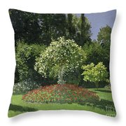 Jeanne Marie Lecadre In The Garden Throw Pillow