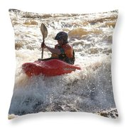 Kayak 4 Throw Pillow