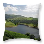 Kinder Reservoir From White Brow Throw Pillow