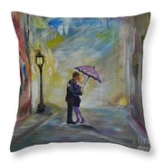 Kiss Me Taxi Is Here Throw Pillow