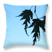 Lacy Birch Leaf Throw Pillow