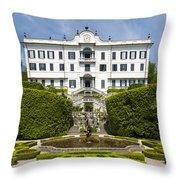 Lake Como,villa Carlotta, Italy Throw Pillow