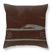 Lamborghini Miura Throw Pillow by Naxart Studio