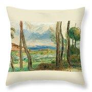 Landscape Mediterranean Throw Pillow