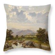 Landscape Near Abtenau Throw Pillow