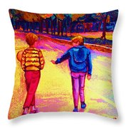 Lets Play Ball At Beaverlake Park Throw Pillow