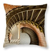 Lighthouse Stairs Cape Blanco Oregon 1 Throw Pillow