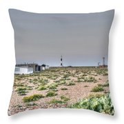 Lights On At The Lighthouse Throw Pillow